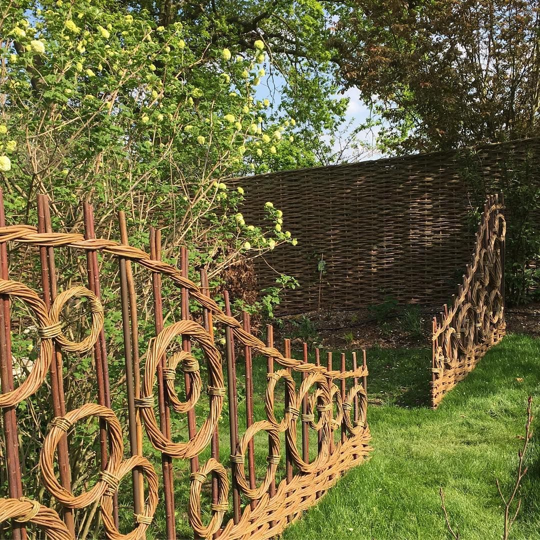 "Photo of Jay Davey Bespoke Willow on Instagram: ""Beautiful day weaving onsite.  #inthegarden #designermaker #artisancraftsman #bespoke #garden #jaydaveywillow"""