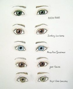 eyes of female characters looking for alaska an