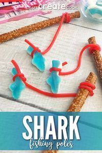 Sparkling Party Crafts Glow Sticks #Partybus #EasyPartyCrafts #sharkweekfood