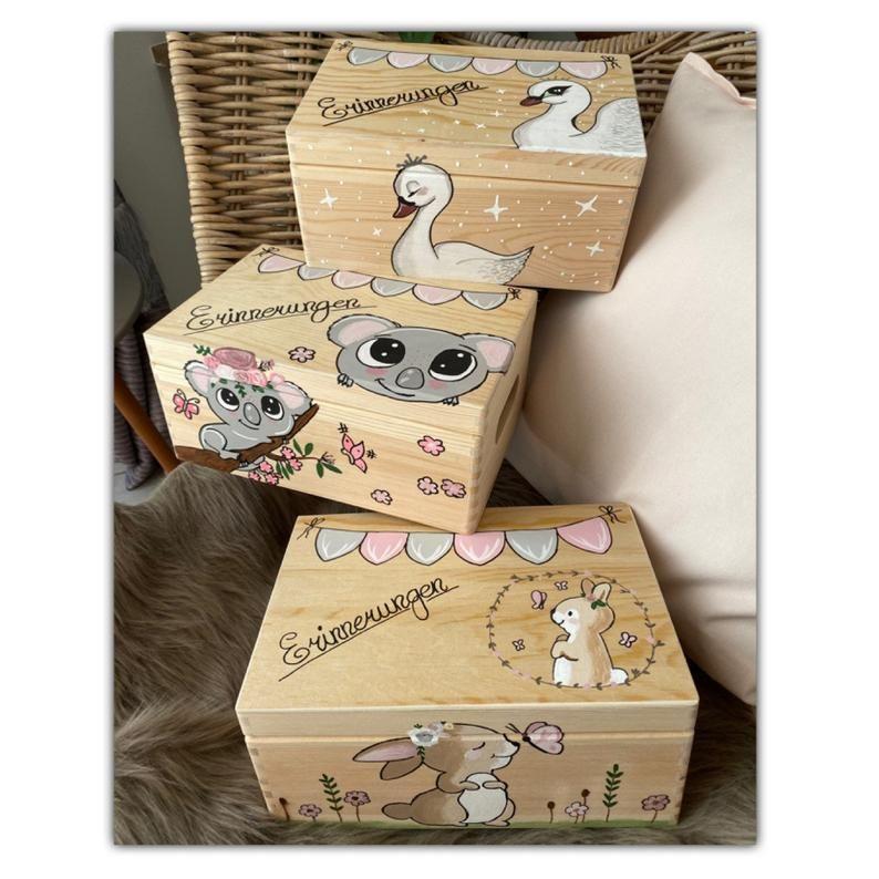 Memorial box memory box birth gift christening gift baby memory box wooden box with name baby room