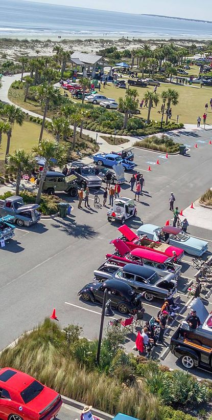 An All Makes All Models Car And Motorcycle Show In Jekyll Island GA - Jekyll island car show