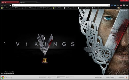 Vikings History Channel Show Google Chrome Theme | Chrome Themes ...
