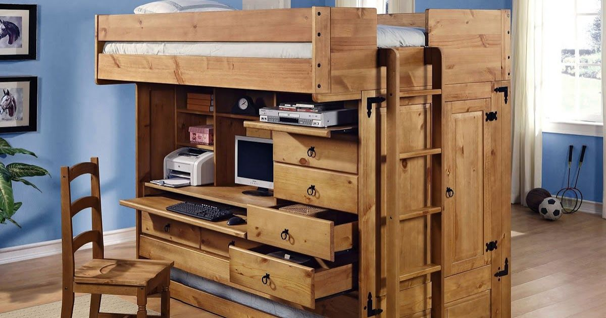 AllinOne Full Loft Bed Bunk bed with desk, Bunk beds
