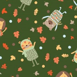 Fabric by the yard Woodland Adventure Camelot by fivemonkeyfabrics