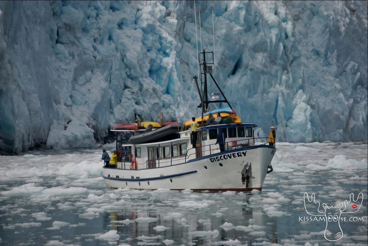 Very brave boat skipper and guests.  Much closer to a glacier than you normally will see a boat.