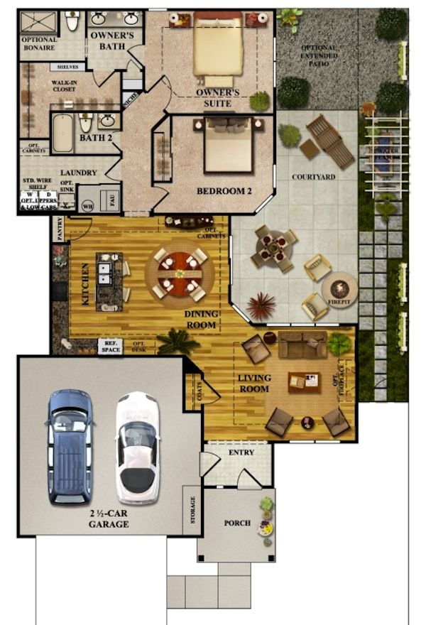 Epcon Communities Canterbury Floor Plan Gurus Floor