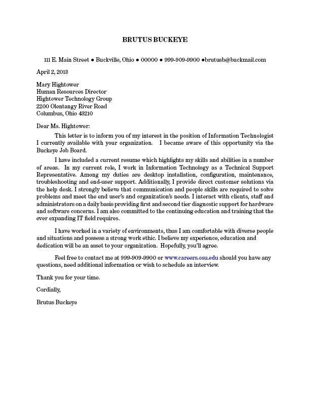 cover letter  Cover Letters  Cover letter for resume