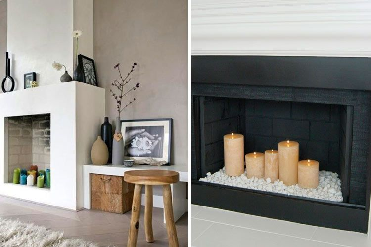 Como decorar chimeneas en desuso Hogar Pinterest Ideas para