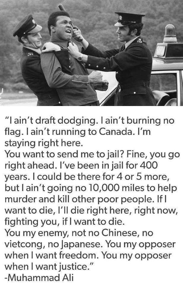 Quotes About Vietnam War Muhammad Ali On Draft Dodging  Military  Pinterest  History .