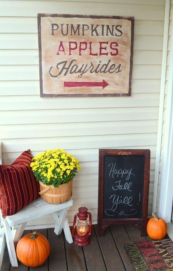 Fall Front Porch DIY Ideas - unOriginal Mom