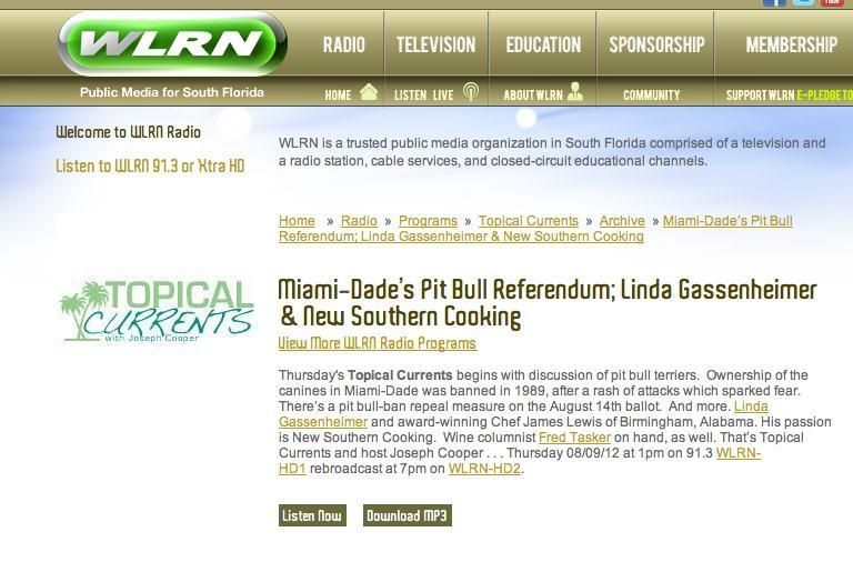 Pin on NPR's Topical Currents on WLRN