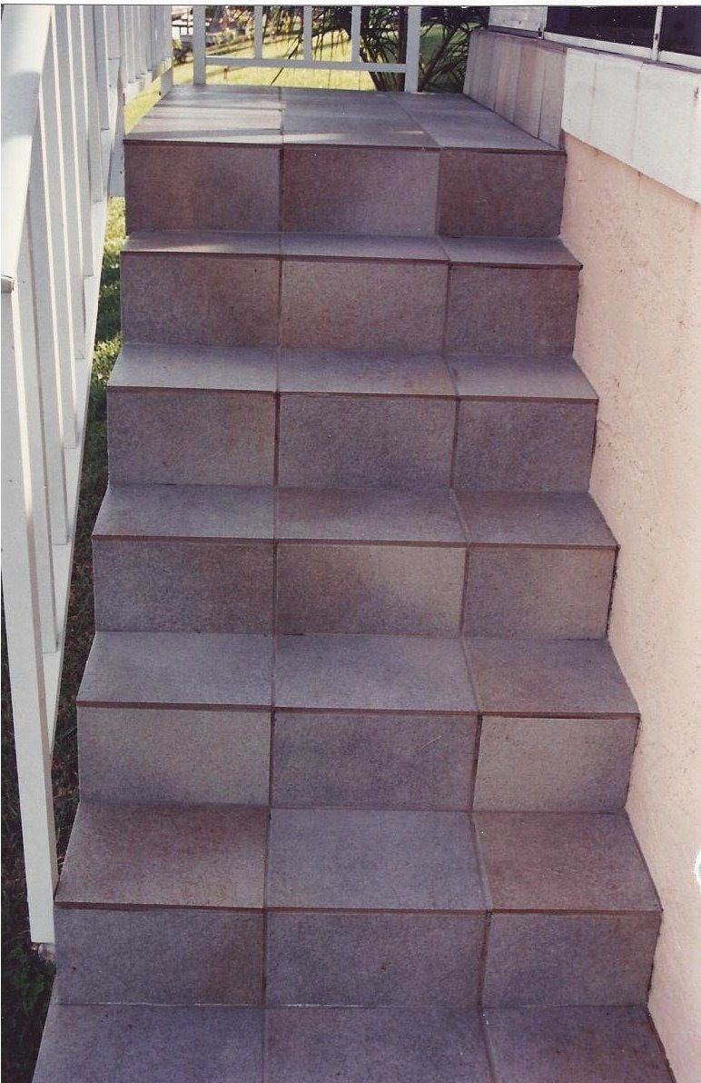 Porcelain Tile Stairs | Tile Design Ideas