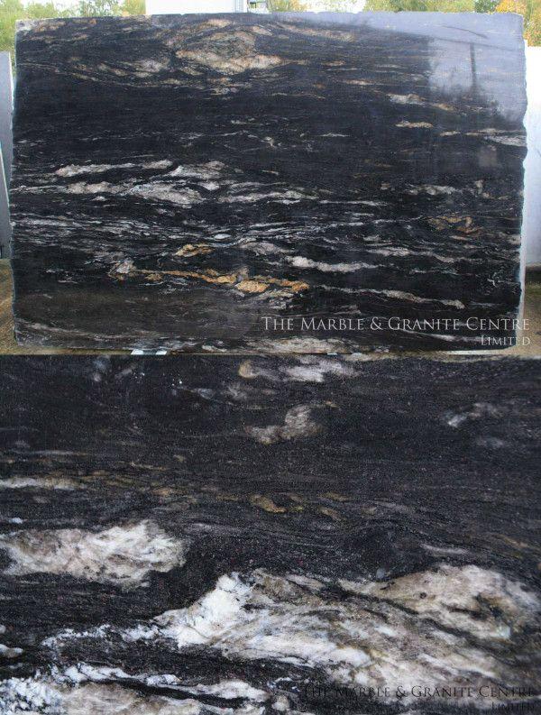 Latest A fantastic black granite with white veins new in stock Titanium Black For Your House - Fresh black granite Elegant