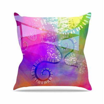 KESS InHouse Musical Tendrils by Alyzen Moonshadow Throw Pillow Size: