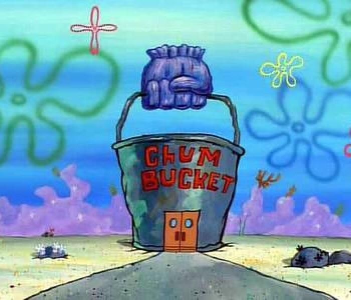Downtown bikini bottom was