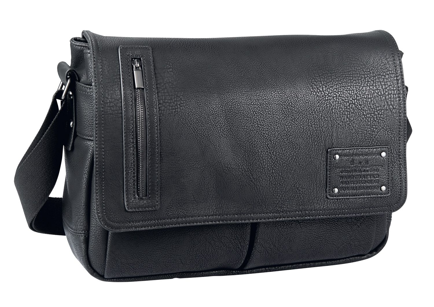 d&n Basic Line Messenger Bag mit Laptopfach- 5216 schwarz