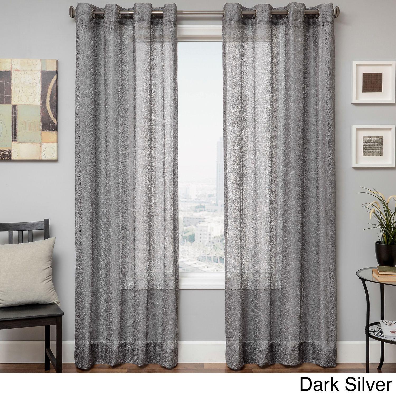 Softline Ariel Sheer Grommet Top Curtain Panel Curtains Panel