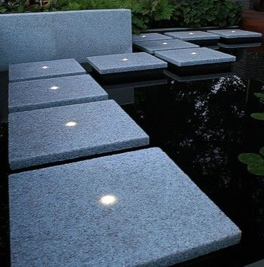 Solar Lighting In Slab Tiles Great For A Lit Walkway