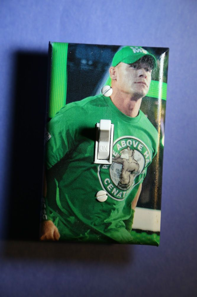 Wrestling Bedroom Decor Stunning John Cena Wwe Light Switch Cover Plate Wrestling Boys Girls Decorating Inspiration