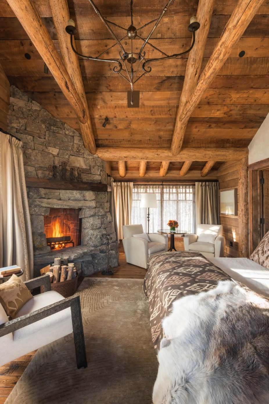 35 Gorgeous Log Cabin Style Bedrooms To Make You Drool With
