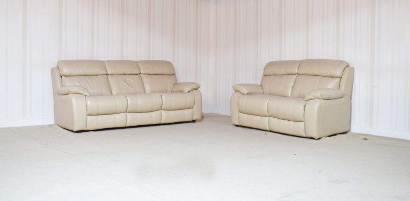 Peachy Moreno Cream Leather 3 Seater 2 Seater Sofa 18B Sofas Pdpeps Interior Chair Design Pdpepsorg