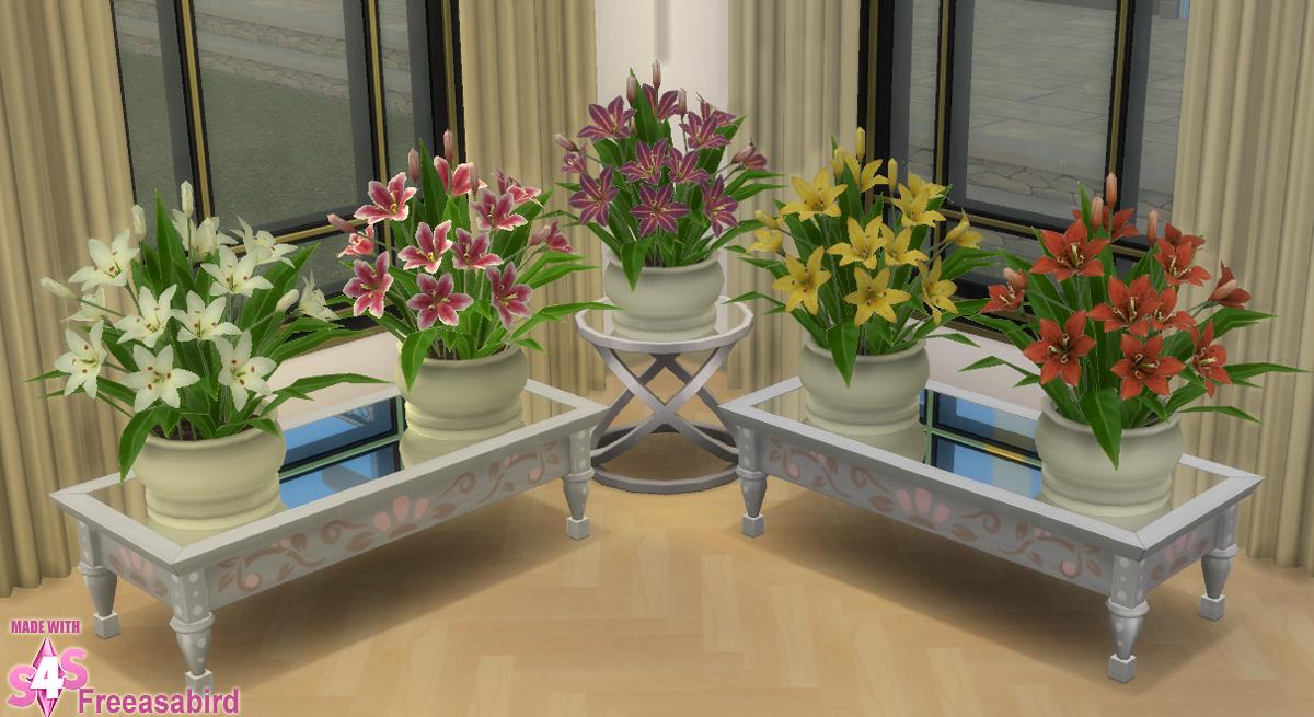 Lily Pot | Sims 4 studio, Table decorations, Home decor