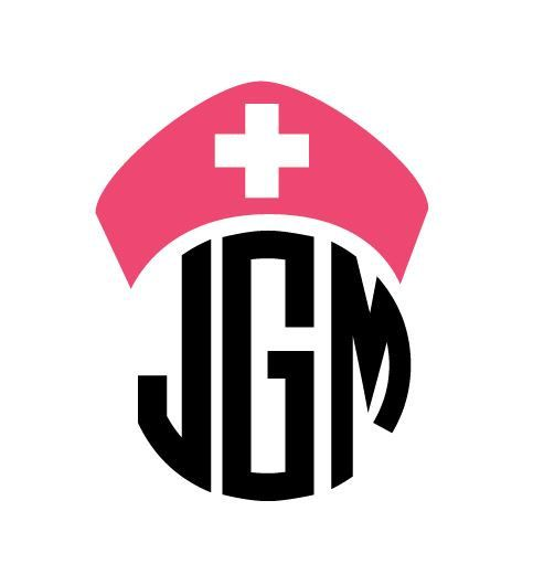 Nurse Monogram Car Decal Sticker On Etsy For All My Nursing - Monogram car decal sticker