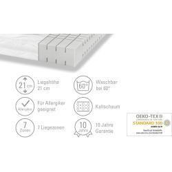 Artone 7-Zone Ortho-cel®-Cold Foam Core Mattress Dream B Ks white weight (cm): W: 90 H: 21 Mattress#7zone #artone #core #dream #foam #mattress #orthocelcold #weight #white