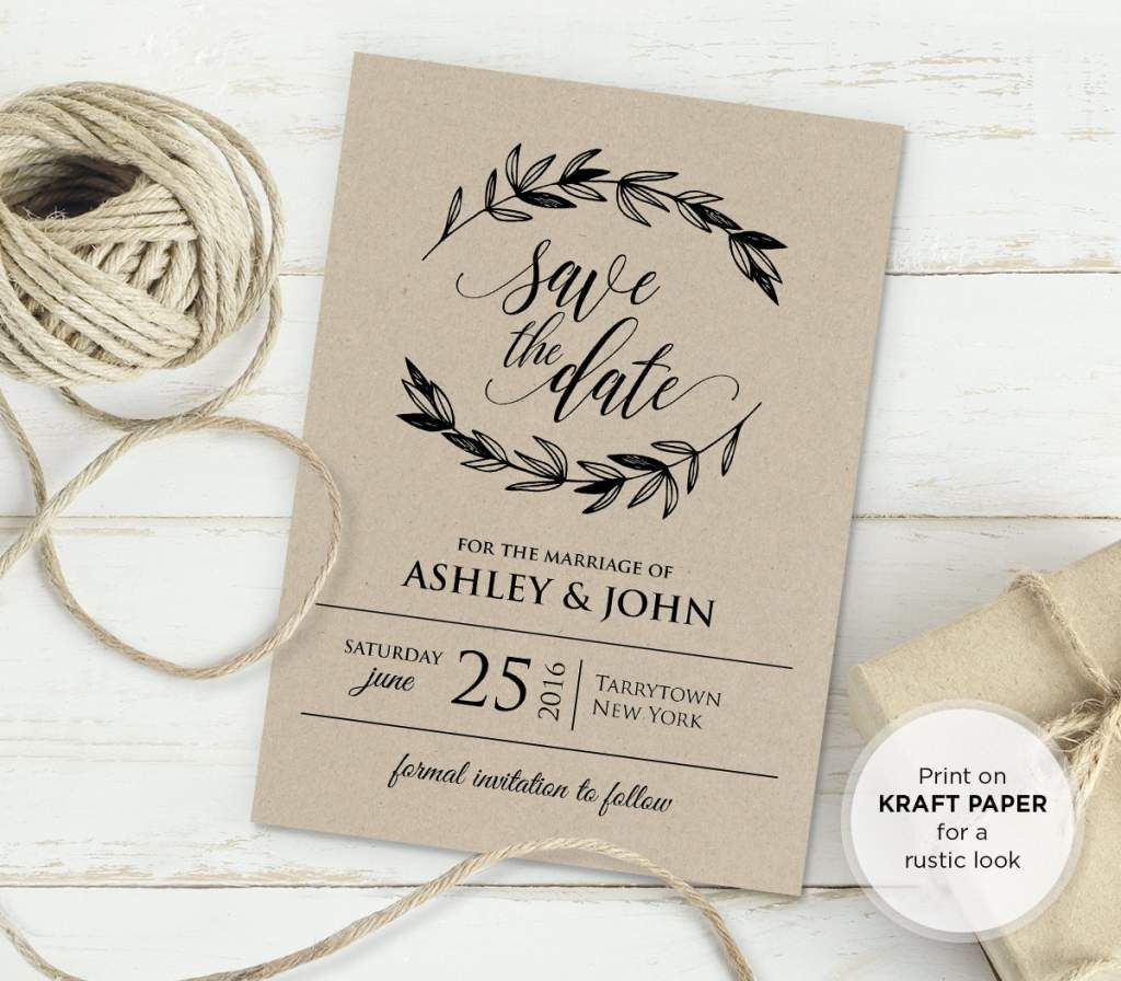 free rustic vintage wedding invitation templates - Free Rustic Wedding Invitation Templates