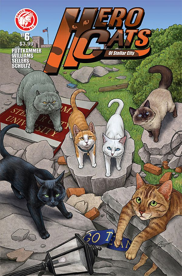 Preview: Herocats of Stellar City #6, Cover - Comic Book Resources