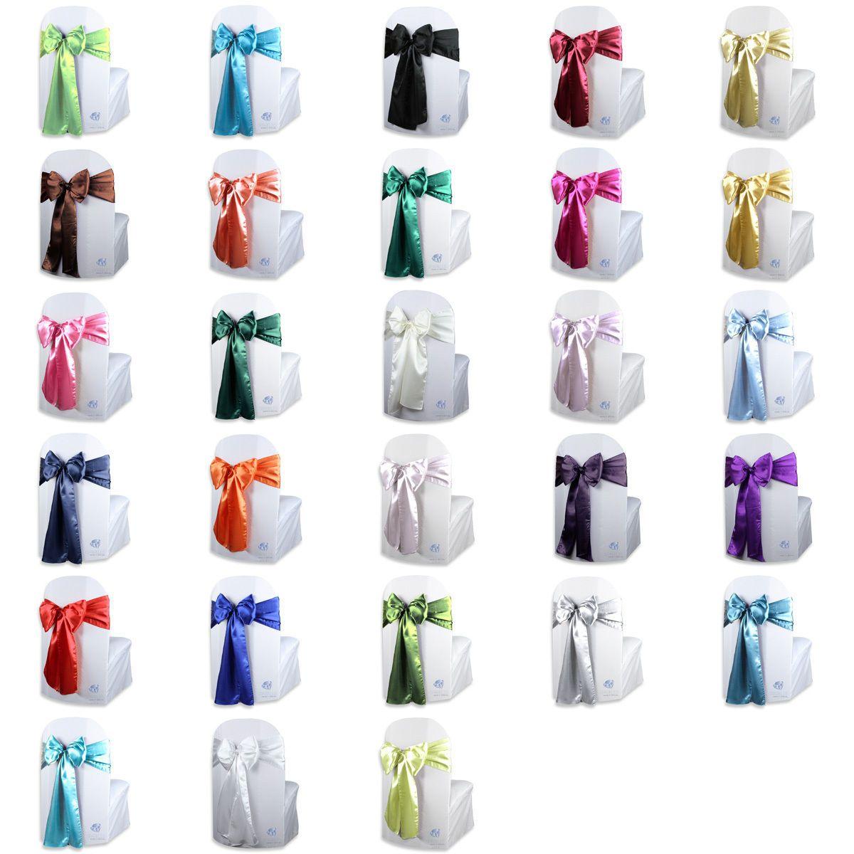 "20 pcs Organza Chair Cover Bow Sash 108/""x8/"" Wedding Party Banquet Reception"