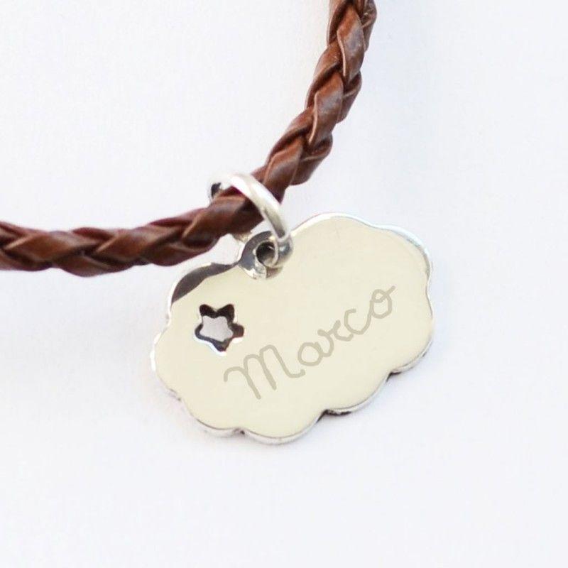 Colgante de plata nube con nombre grabado | Joyas Personalizadas ...