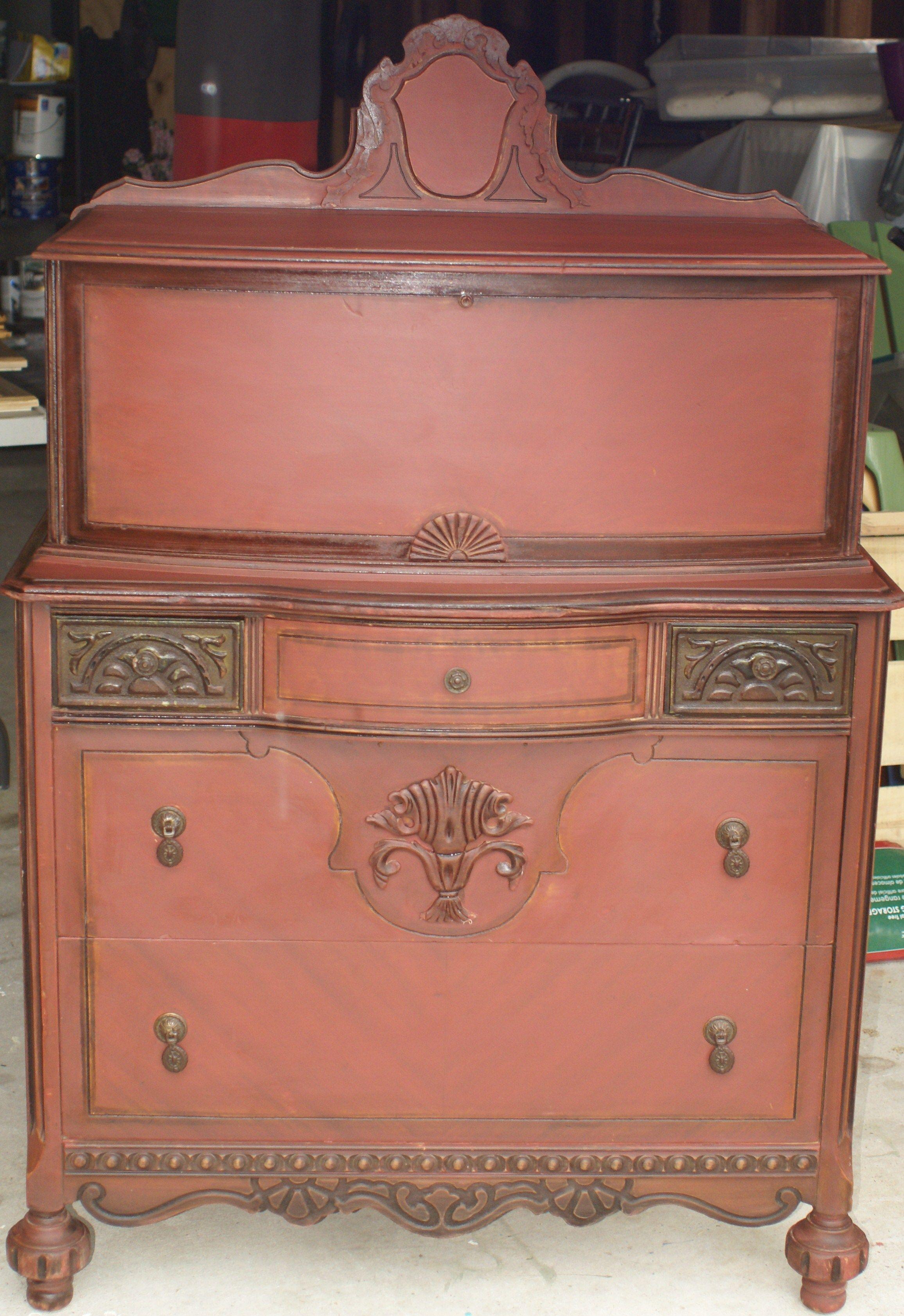 Furniture, Antique dresser, Decor