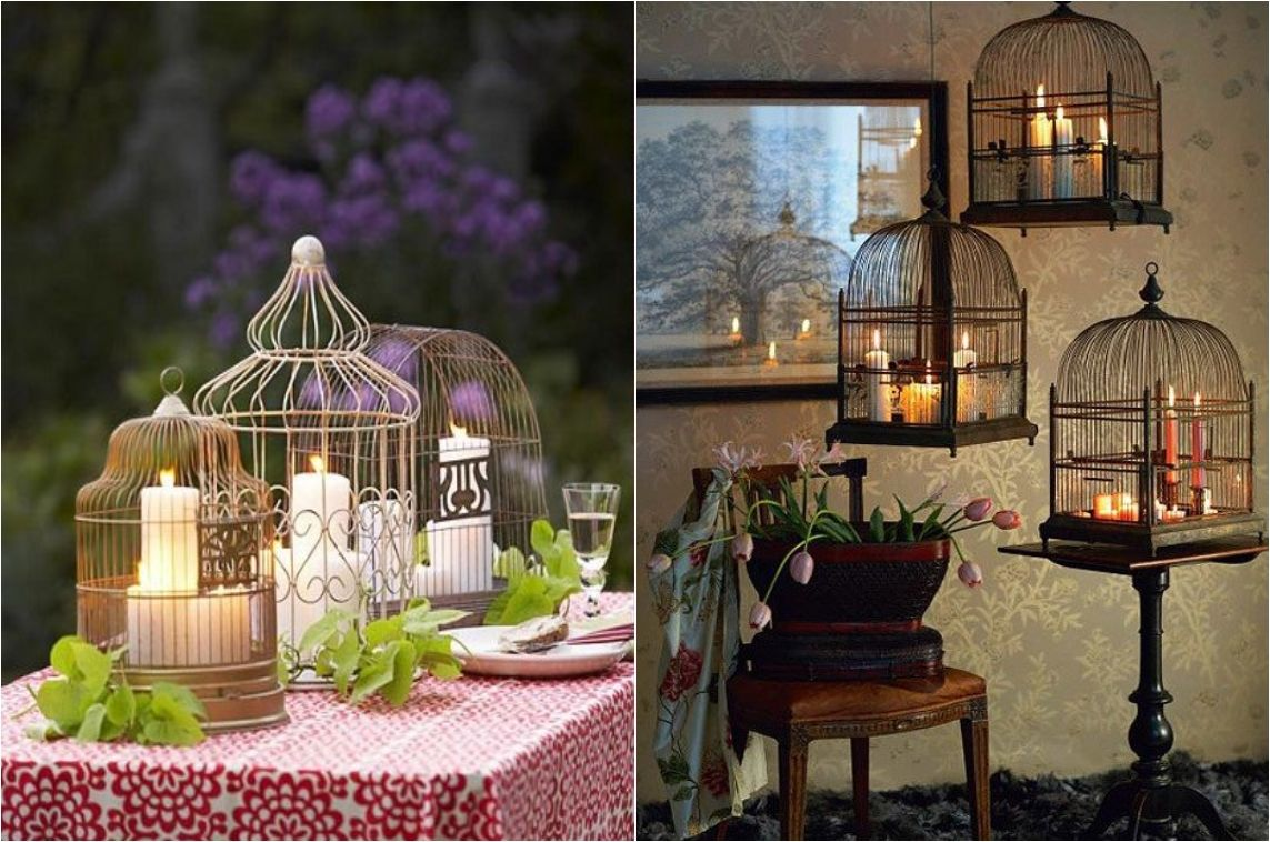 Give Your Home A Chic Decor By Reusing Old Bird Cage In 25 Ways