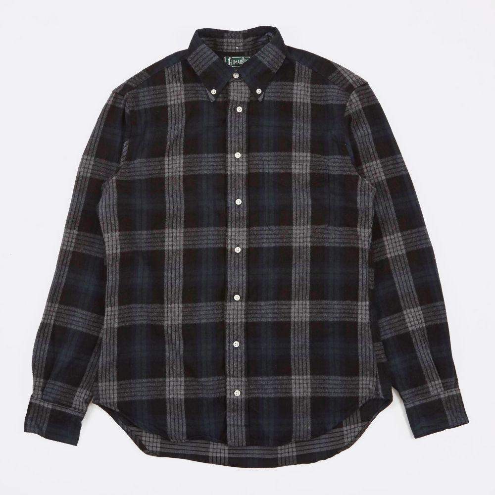 Flannel shirt black  Gitman Vintage Sided Brushed Japanese Flannel Shirt  GreenBl