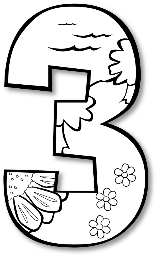Creation Day 3 Number Ge 1 Black White Line Art Coloring Book Colouring Twitter 555px