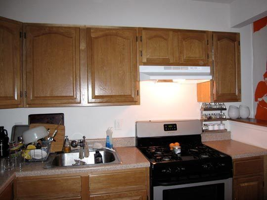 Rental Apartment Kitchen Ideas before & after: an $80 rental kitchen makeover | rental kitchen