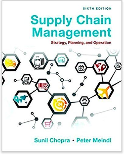 Pdf Ebook Supply Chain Management 6th Edition By Chopra And Meindl Chain Management Supply Chain Management Supply Chain
