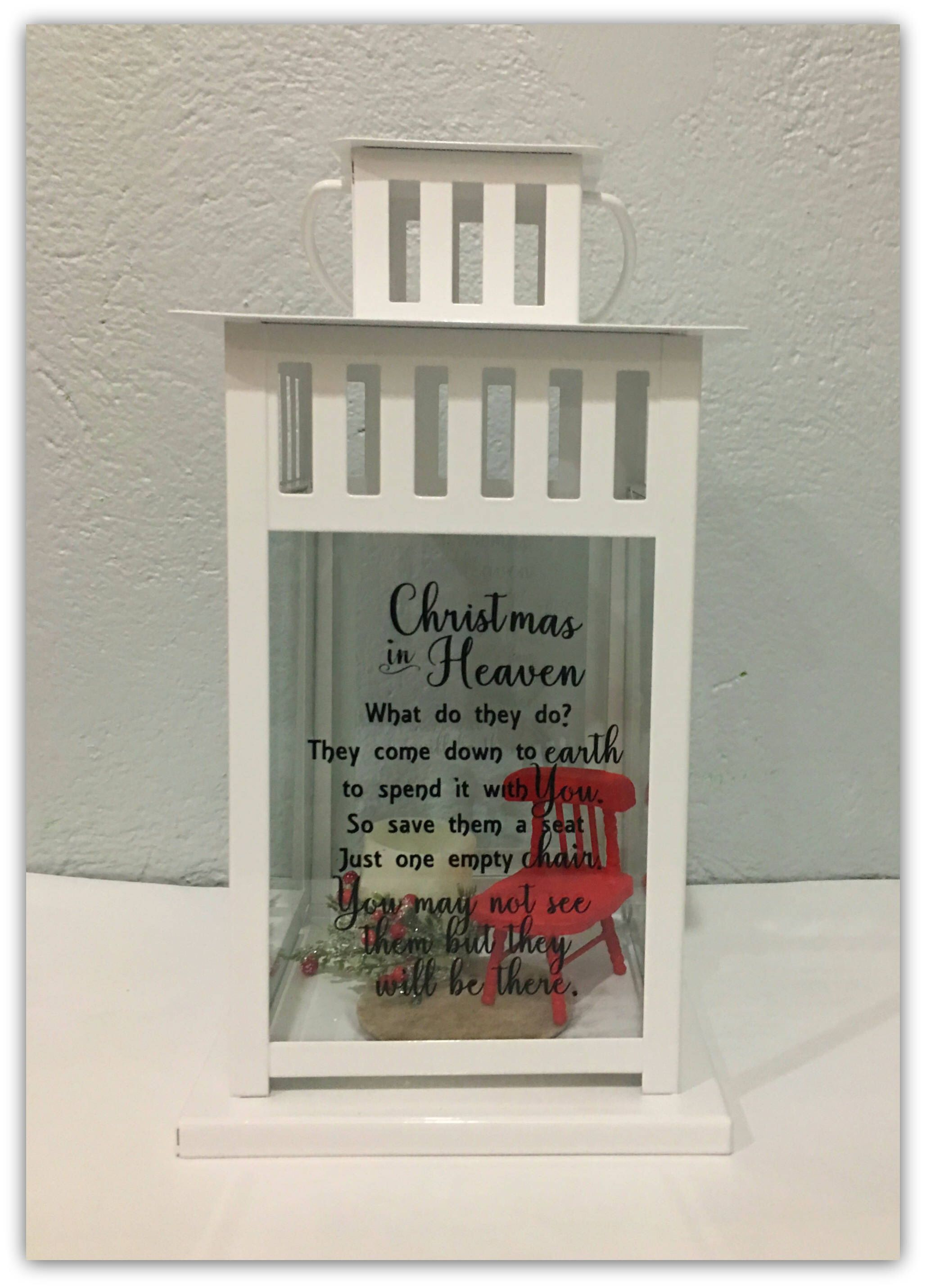 Christmas In Heaven Chair.Christmas In Heaven Lantern Sympathy Gift Bereavement