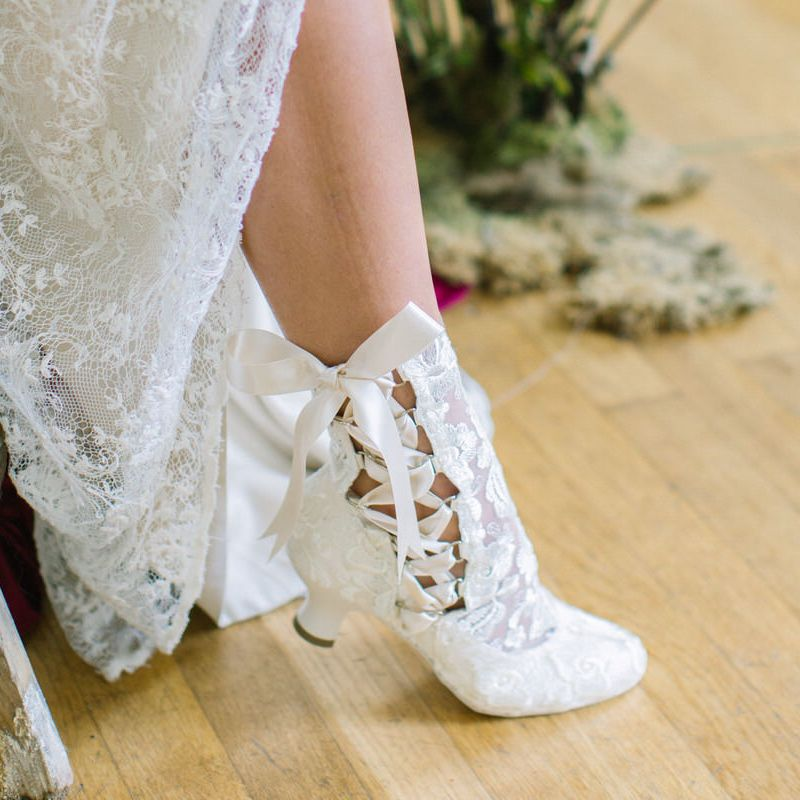 Vintage Lace Wedding Boots