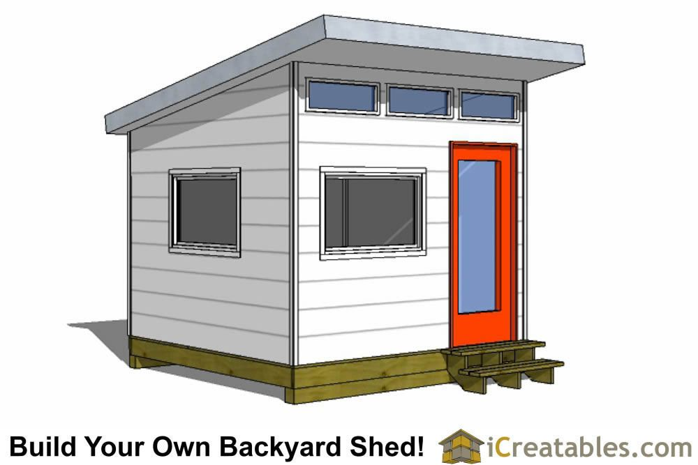 10x10 Studio Shed Plans 10x10 Office Shed Plans Modern Shed Modern Shed Pallet Shed Plans Shed Design