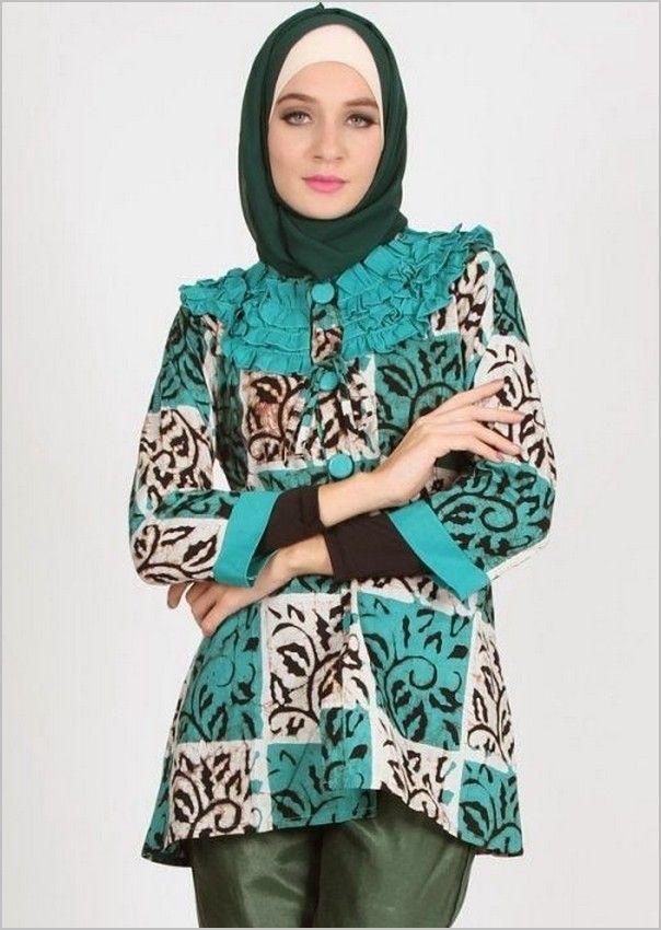 13 Model Baju Batik Wanita Modern Untuk Pesta  Kerja   Model