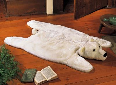 polar bear rug would be adorable for winter - Bear Rugs