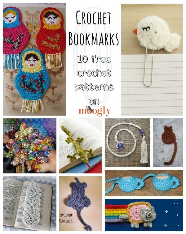 10 libre # Crochet Bookmark Patrones - una colección de Mooglyblog ...