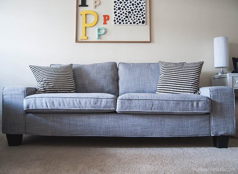 She added bed risers and this sofa looks normal instead of - 4 chairs in living room instead of sofa ...