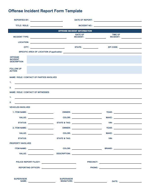 Incident Report Template - Free Incident Report Templates Smartsheet