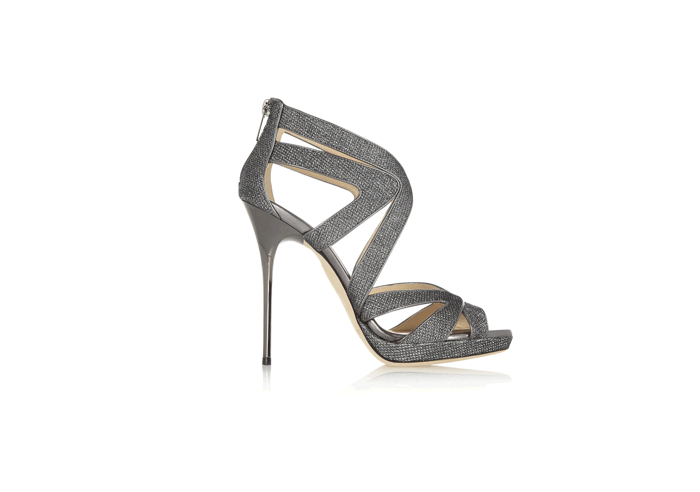 Jimmy Choo | Silver Glitter finish sandals | Cravin' Style