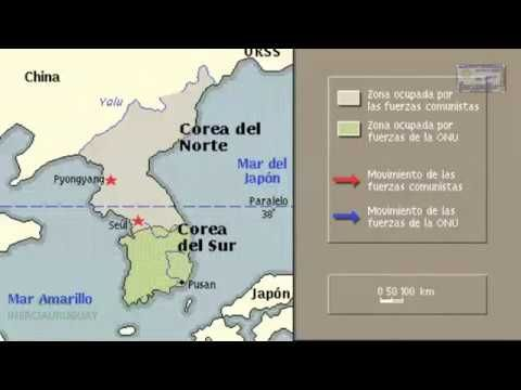 Guerra De Corea Mapa.Pin En Mapas Animados De Las Mas Importantes Batallas