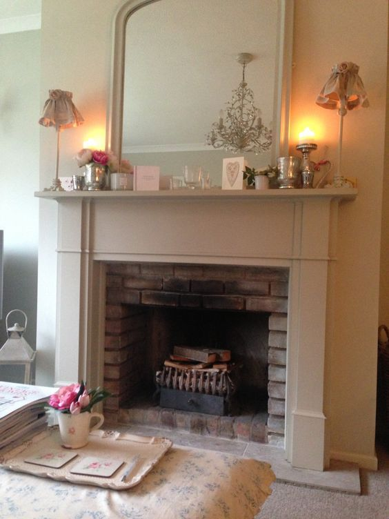 Fire Surround Painted In Farrow & Ball Stoney Ground