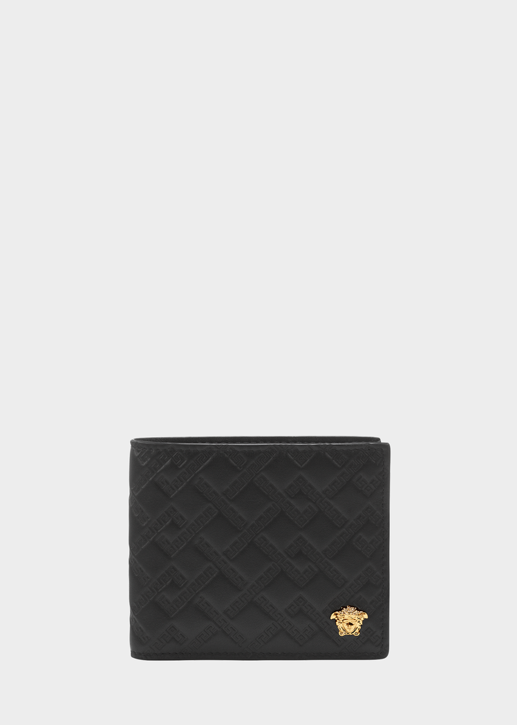 5b1f1747cf15 Versace Palazzo Embossed Leather Wallet